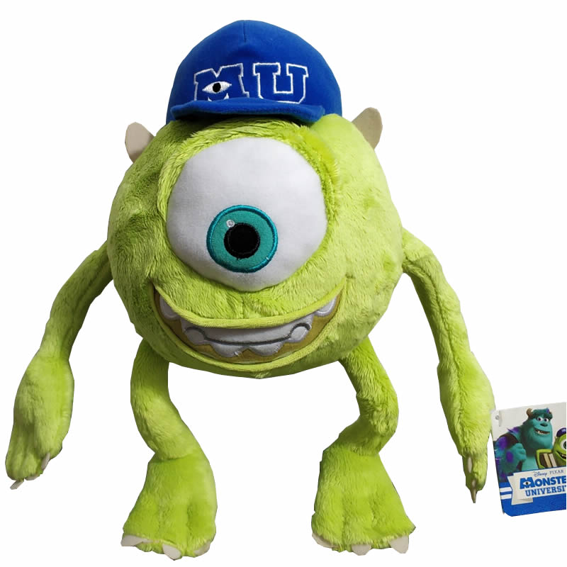Free Shipping 32CM Monsters Mike Wazowski Plush Toy Monsters Soft Stuffed Doll For Kids Gift