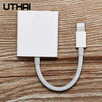 UTHAI C27 Card Reader for SD to Lightning Smart Camera Card Readers Adapter for iPhone iPod Apple Memory Cards Use No APP Need