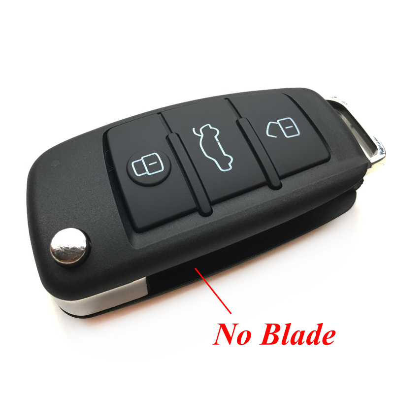 Image 3 - 3 Buttons For VW VolksWagen Skoda Seat Bora For AUDI A6 For Pasha Replacement Car Remote Key Shell Case Flip Folding Key Fob-in Car Key from Automobiles & Motorcycles