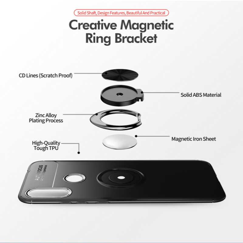 Чехол-кольцо для Redmi 7A, K20, note 7, 5, 6, pro, ТПУ, скрытая подставка, с магнитом, случай для Redmi Примечание 4/4x6, 6A, S2, чехол, Fundas