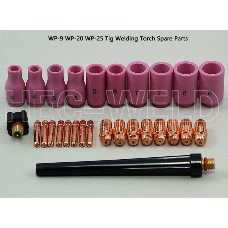 TIG Consumable KIT,Back Cap Collet Body Fit TIG Welding Torch SR WP17 18 26,28PK