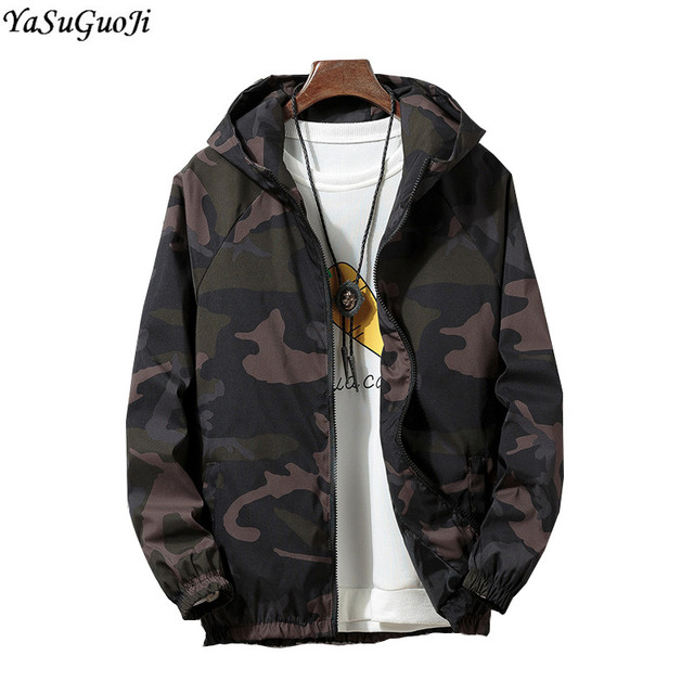 692c28f234c79 YASUGUOJI new 2018 autumn fashion camouflage long sleeve jacket men hooded polyester  men jacket male windbreaker JK12