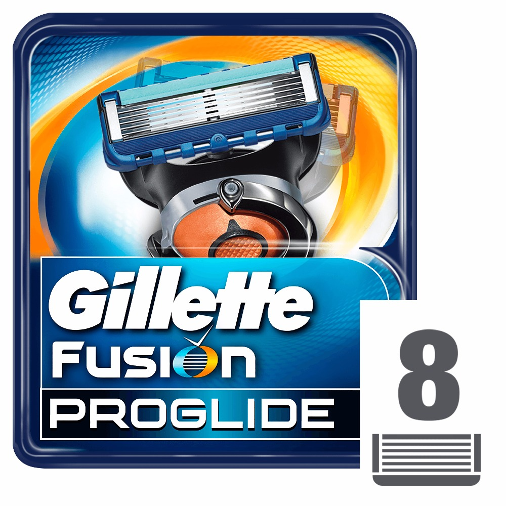 Removable Razor Blades for Men Gillette Fusion ProGlide Blade for Shaving 8 Replaceable Cassettes Shaving Fusion Cartridge razor gillette fusion proglide flexball power shaver razors machine for shaving 1 razor blade