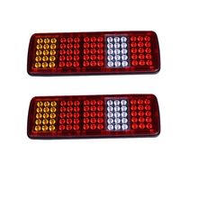 купить 1 Pair 75 LED Car Rear Tail Lights Stop Brake Turn Signal Reverse Lamp for 12V 24V Truck Trailer Lorry дешево
