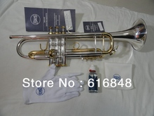 Wholesale– High copy Bach small silver plated imported technology silver brass instruments Bb trumpet