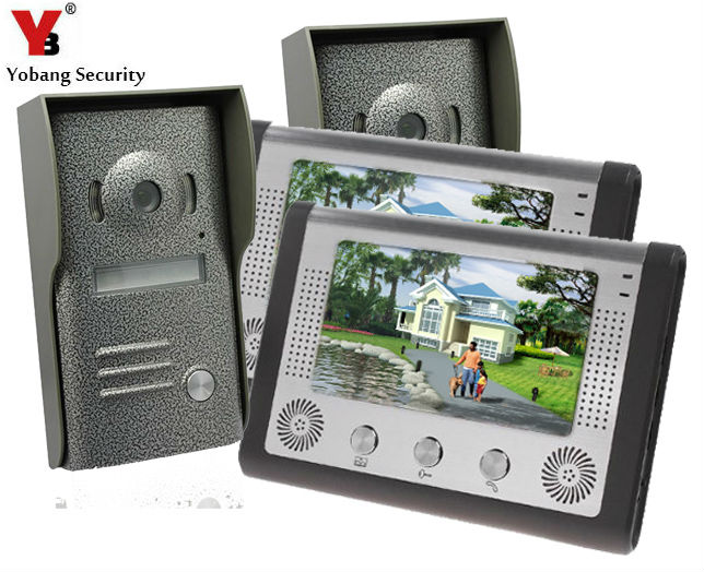 Yobang Security Freeship 7 Inch Video Door Phone Doorbell Intercom Kit IR Night Vision Camera Door Bell Rainproof Door Camera цена и фото