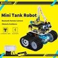 Keyestudio Programabl Tanque Robot para Arduino Starter Kit com UNO R3 Projeto Do Carro Inteligente + Tutorial livro STEM Educação Robô