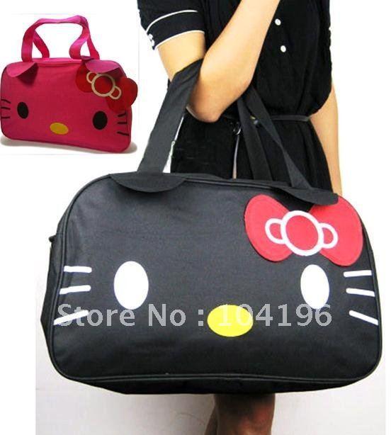 Hand red Travel Messenger Tote bag black Luggage Shopping Shoulder Sanrio HelloKitty Big xnBwqAW71v