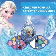 Disney Frozen Princess Makeup Set Toy Cosmetic Eyeshadow Lip Gloss Blushes Kids Make-up For Children