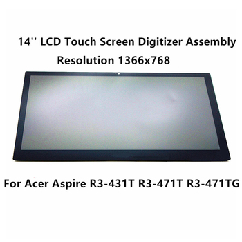 FTDLCD 14'' LED LCD TouchScreen Digitizer Assembly For Acer Aspire R3-431T R3-471T R3-471TG-59JL R3-471T-58YT 1366x768 фото