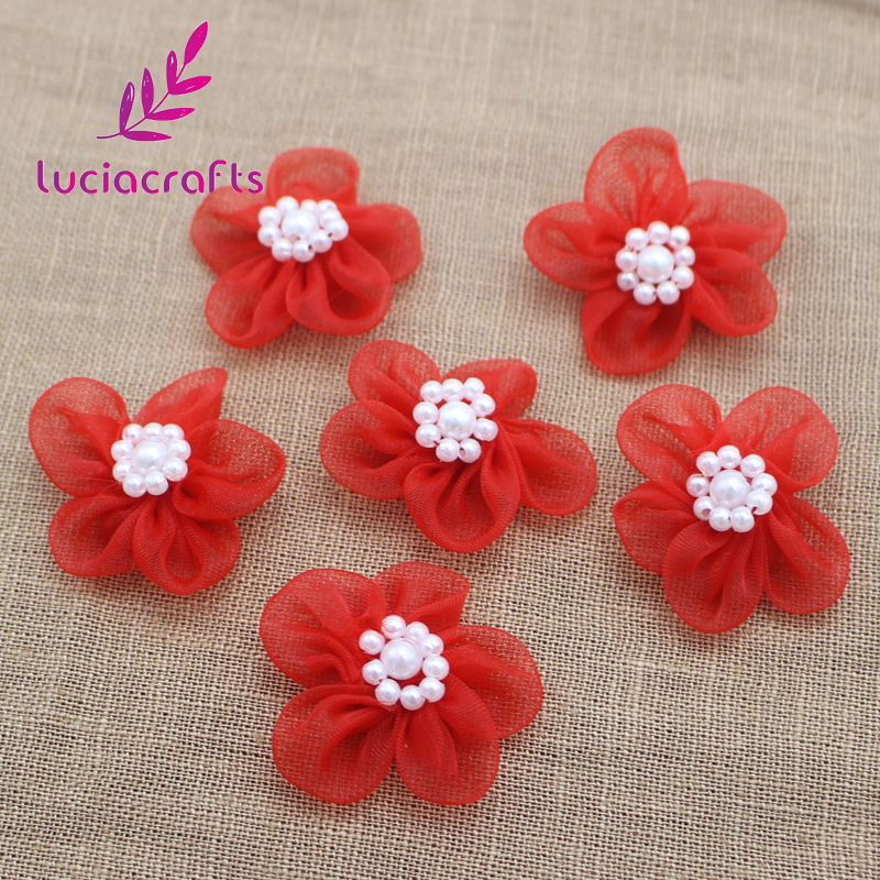 Lucia crafts 30mm Organza Bowknots Headwear Material Rosette DIY Hair bow  Garment Sewing Accessories 12pcs 24pcs 012004018-in Artificial   Dried  Flowers ... f596c89ad34e