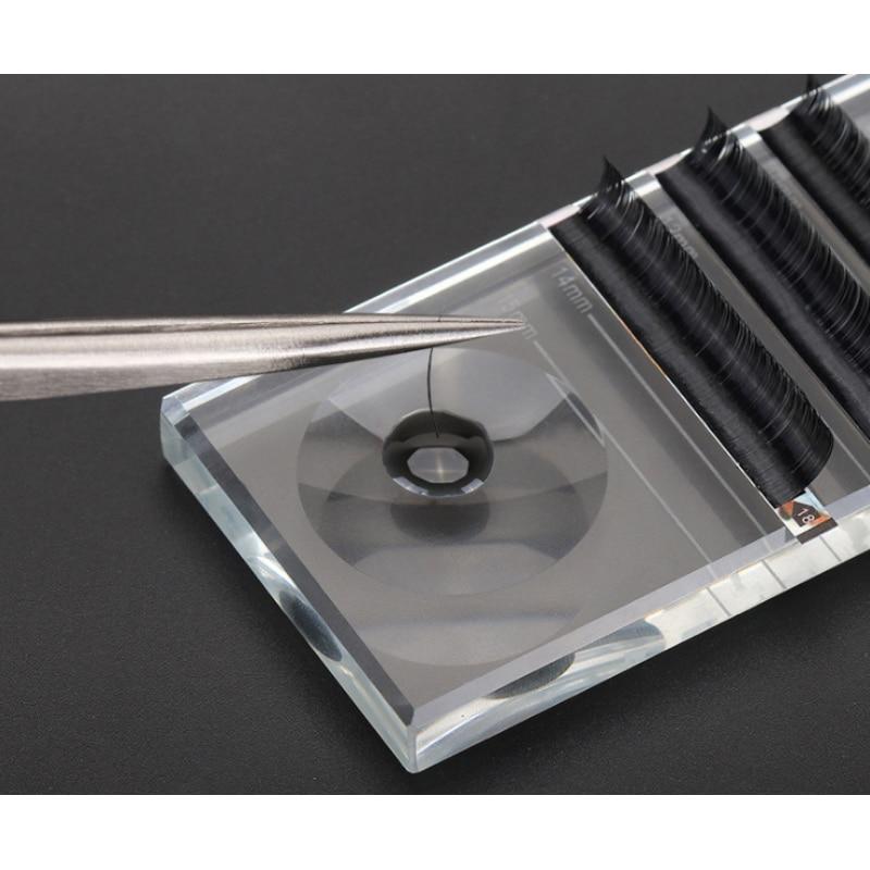 Длина ресниц отличивающий инструмент двойного использования прививки накладные ресницы специальный двухв-1 хрустальный стол клей Присоска на стекло