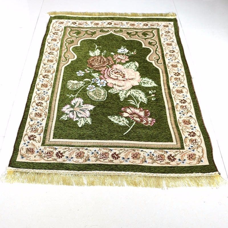 drop ship 70*110cm Floral Chenille Islamic Muslim Prayer Mat Salat Musallah Prayer Rug Tapis Carpet Tapete Banheiro Praying Mat