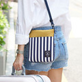 Travel Necessaries Women Small Messenger Bag Stripe Oxford Korean Fashion Design Crossbody Bag for Girls Patchwork