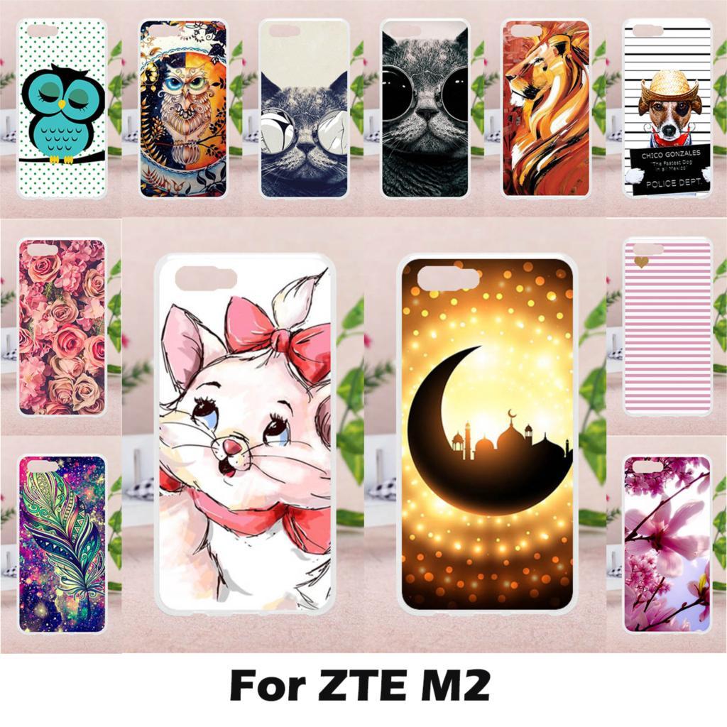 Taoyunxi силиконовые чехлы для ZTE Нубия M2 случае антидетонационных для ZTE Нубия M2 5.5 дюймов облегающий чехол Cute животных Окрашенные Coque крышка
