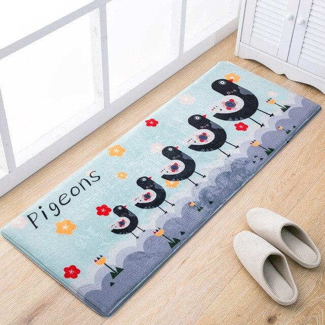 50x80 45x120cm Set Cartoon Owl Kitchen Mat Home Entrance Hallway Doormat Anti