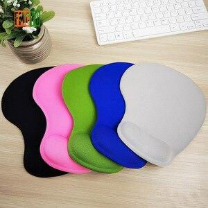 Image 4 - Katı renk mouse pad bileklik yaratıcı bellek silikon ofis el yastık mouse el desteği 3d bilek pad mouse pad küçük simp