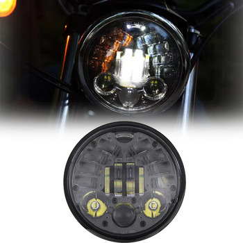 """5.75 Inch DRL Turn Signal Headlamp For Harley Dyna Sportster 1200 48 883 5-3/4"""" Projector LED Moto Headlight"""