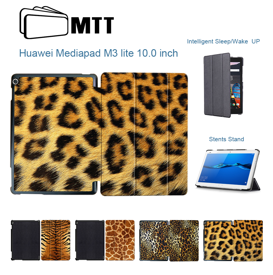 MTT Case For Huawei MediaPad M3 Lite 10.0 inch Auto Wake & Sleep PU Leather Smart Flip Tablet Cover for Huawei M3 lite 10.1 image
