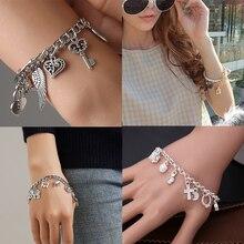 4 Styles Hot Fashion Charms Chain Bracelets For Women Gold Silver Color Bileklik Bracelet&Bangle Europe American Female Jewelry