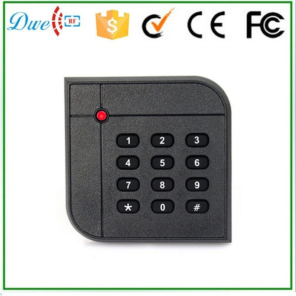 DWE CC RF ID card and keypad card reader 13.56mhz weigand 34 interface reader usb pos numeric keypad card reader white