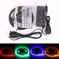 RGB LED Strip DC12V 5050 Waterproof/ Non-waterproof LED Band 300leds 5M/Roll 44 key controller Addressible Led for Home Decor