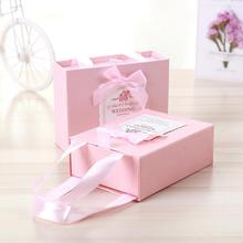 4 Pcs Elegant Handbag Candy Box Wedding Gift Sweet Bag Favors for Guest Party Decoration