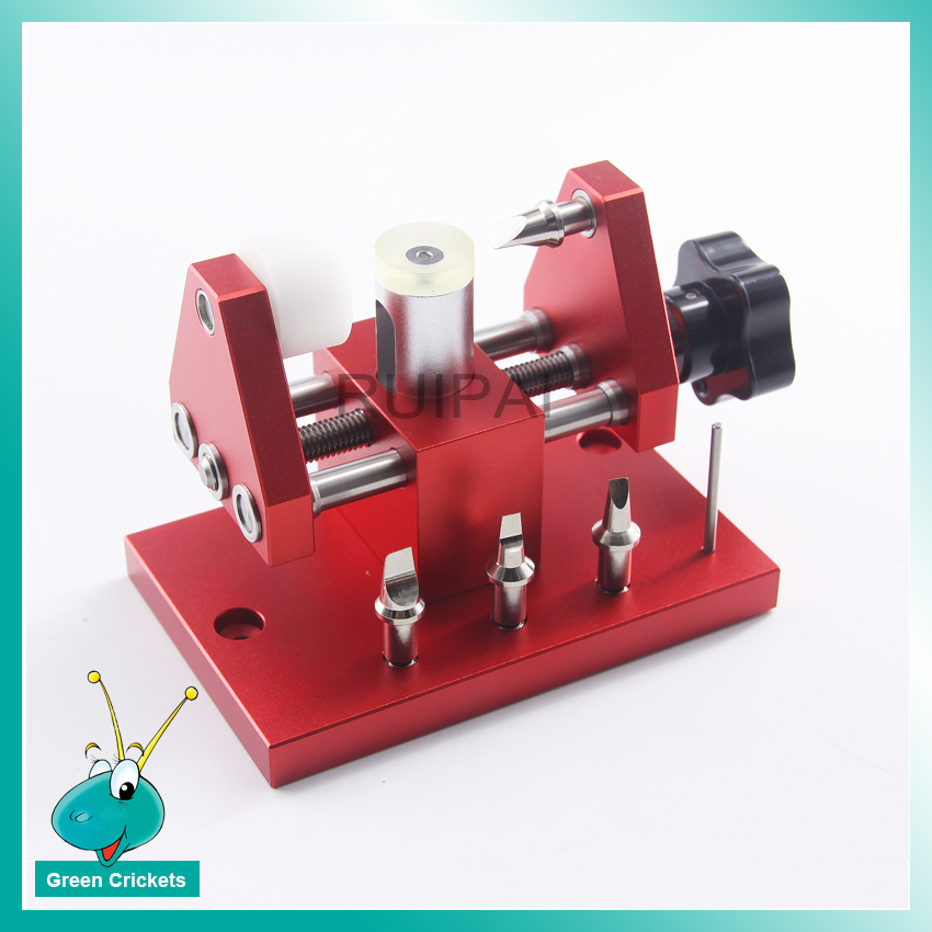 Versión actualizada 07115 herramientas de apertura trasera del reloj, reloj Snap on Case abridor trasero para la máquina de cubierta inferior del reloj prizing-in Kits y herramientas de reparación from Relojes de pulsera    1