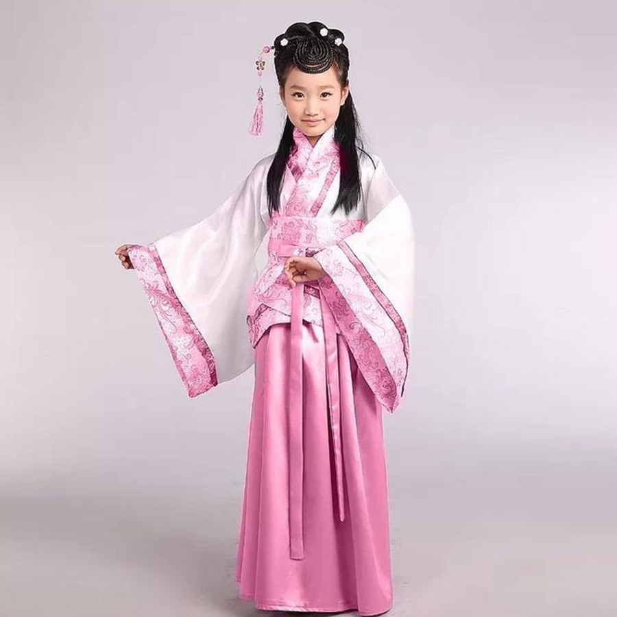 traditional ancient chinese costume for costume hanfu child girls clothing kid girls cosplay dresses dance Tang Dynasty costumes summer dresses styles chinese cheongsams for girls traditional chinese dress for children tang suit baby costumes