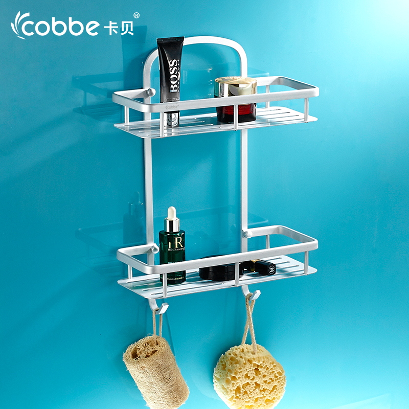 Free Shipping Double Tier Shower Caddy Cosmetic Shelves Wall Hanger ...