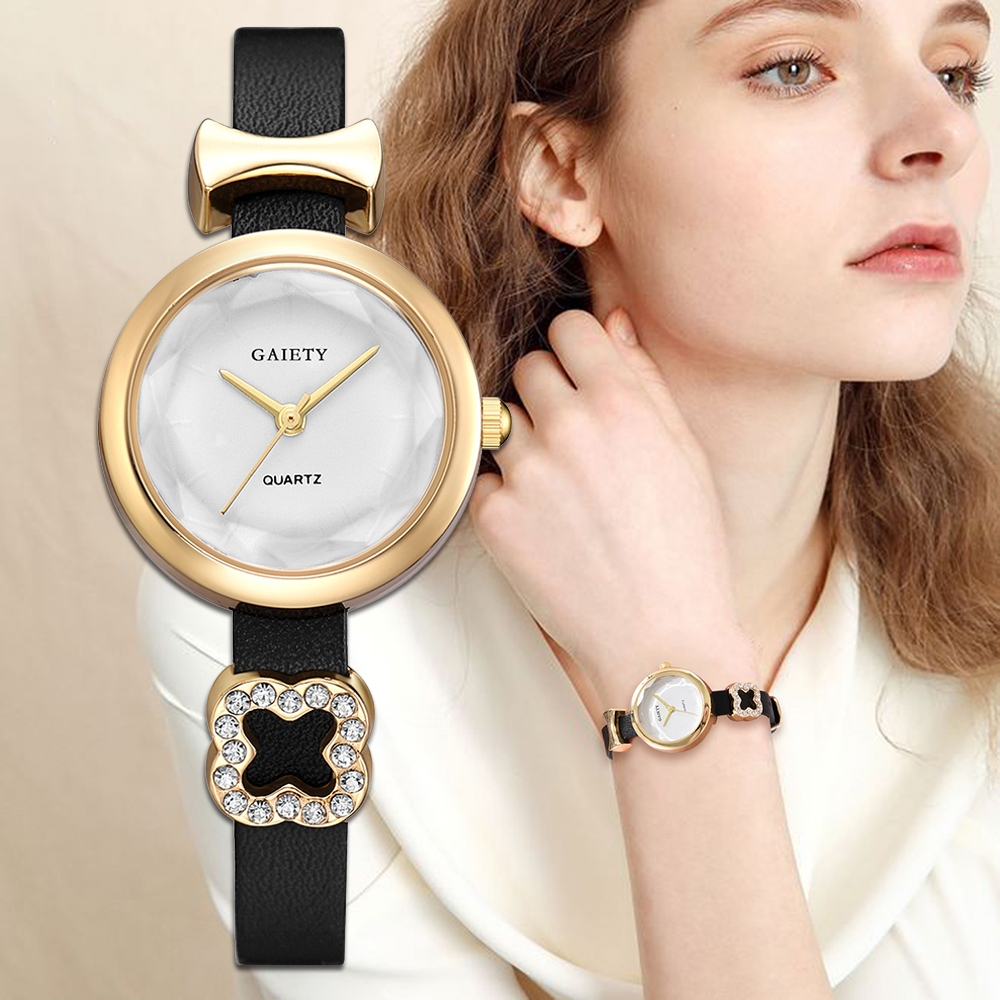 Gaiety Brand Women Bracelet Watches Luxury Gold Dress Ladies Quartz Clock Fashion Women's Wristwatch DIY Charm Bangle Watches