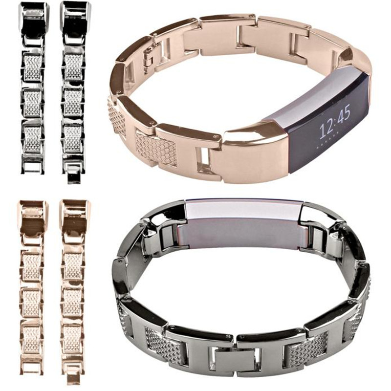 CLAUDIA New Arrival Black Gold Luxury Stainless Steel Watch Band Wrist Strap For Fitbit Alta High Quality Dropship projector bare bulb with housing lmp f331 replacement lamp for sony vpl fh31 vpl fh35 vpl fh36 vpl fx37 vpl f500h projectors