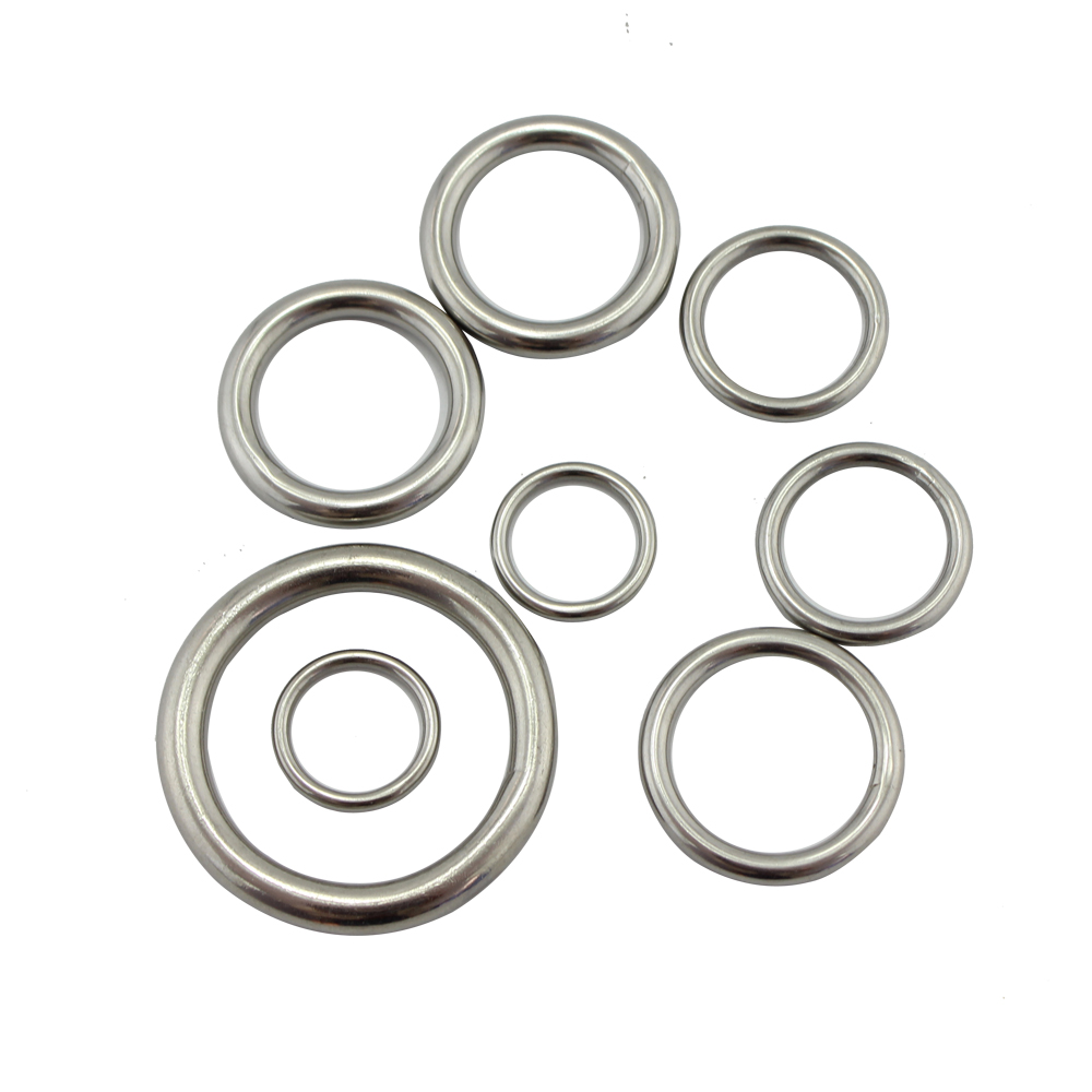 Stainless Steel 304 Welded Bag Round O Ring High Polished Precision Weld Marine Strap Belt Round Ring 10pcs