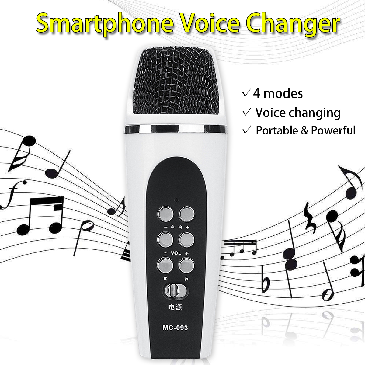 New Portable 4 Modes Smartphone Cellphone Voice Changer Microphone with Earphones Voice Free Switching Microphones Entertainment