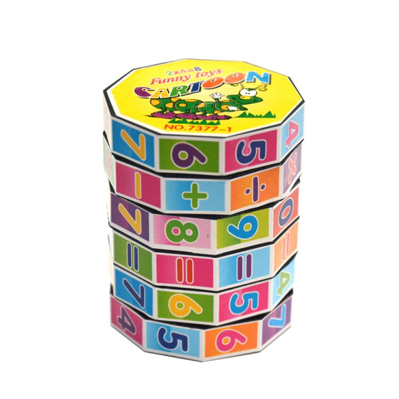 New Educational Puzzle Game Toys Children Intelligent Digital Cube Math For Children Kids Mathematics Numbers Magic Cube Toy J2