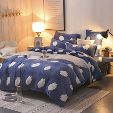 2018 New Super soft autumn and winter thickening Farley four pieces of warm velvet flannel four-piece bedding set