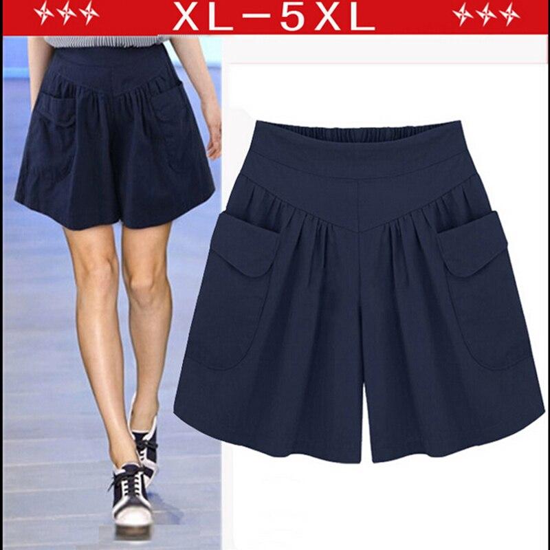 Женские шорты 2017 xl/4xl 5XL pantalones