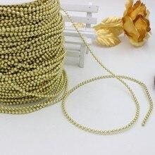 5 metro 3mm/4mm ouro/prata/branco cor artesanato imitação pérola contas de algodão linha corrente para diy festa de casamento decoração festa