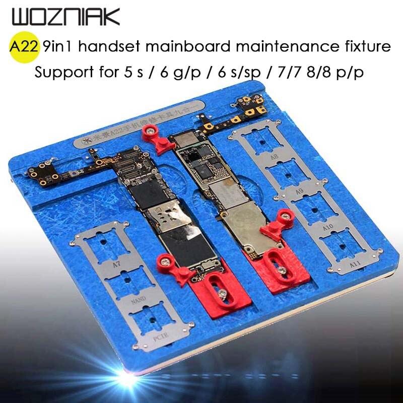 A22 Haute Température Principale Carte Mère gabarit PCB Support de Fixation pour iPhone 5S 6 6 p 6 s 6SP 7 7 p 8 8 p Fix Réparation Moule