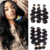 Peruvian Body Wave Hair Human Hair Weave Bundles Non Remy Hair Extension 1B 8 30inch 1or 3Bundles Fast Delivery