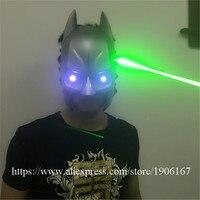Newest Led Luminous Green Laserman Party Mask Illuminate Stage Performance Masquerade Red Laserman Show Mask