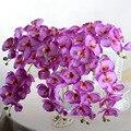 Moda flores artificiales DIY Ramo de Flores de Seda Artificial Orquídea Mariposa orquídea Phalaenopsis Wedding La Decoración Del Hogar F1