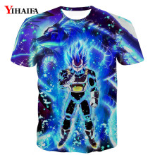 3D T shirt Nebula Galaxy Dragon Ball Z Print Anime Casual Tee Shirts Men Cartoon Graphic Tees hip hop Tops men t
