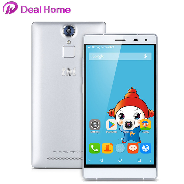 Цена за Корпус + Стеклянный) подарок! Новый THL T7 Мобильный Телефон 5.5 Дюймов MTK6753 Окта Ядро Android 5.1 Смартфон 3 Г RAM 16 Г ROM 4800 мАч Отпечатков Пальцев ID