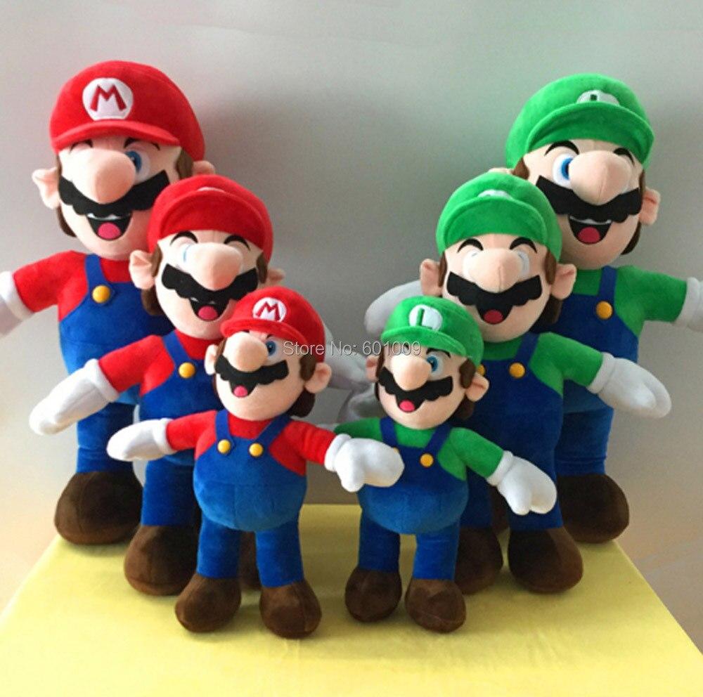 Free Shipping EMS 50Lot Super Mario Bros- Mario Luigi 30CM Plush Doll