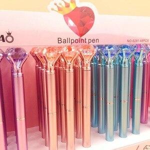 Image 3 - 48 sztuk/partia diament kryształ długopis kreatywne artykuły piśmienne długopis studenci biuro szkolne pióro promocja party prezent wysokiej jakości