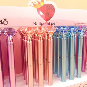 Image 3 - 48pcs/lot diamond crystal ballpoint pen creative stationery students office school pen promotion party gift high quality
