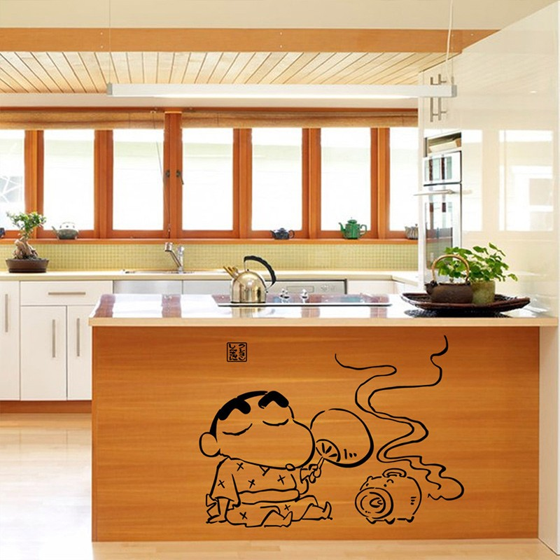 Cute Home DIY Japanese Cartoon Crayon Shin Chan Wall Sticker Decals Wall  Decor Mural Home