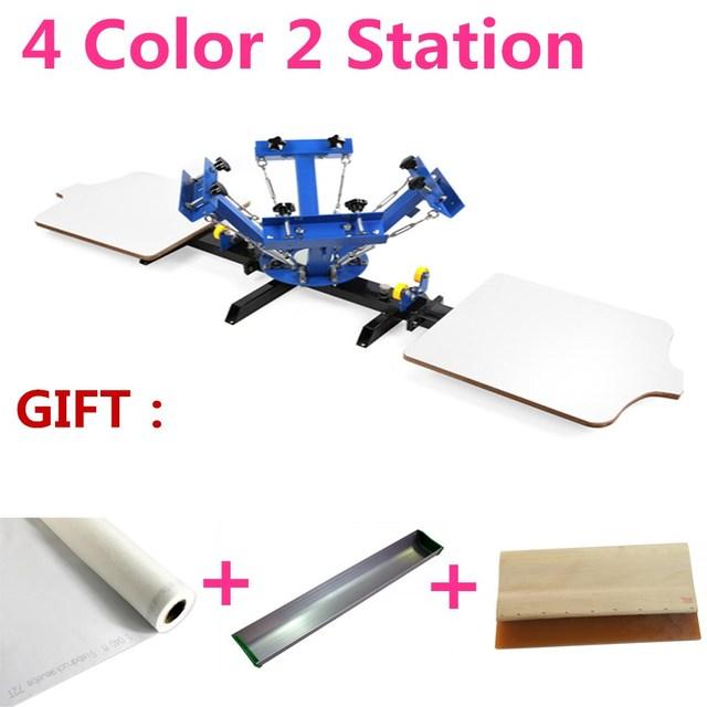 4 Color 2 Station Silk Screen Printing Machine 4 2 Press