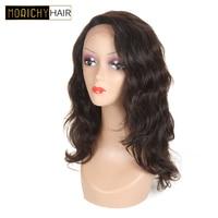 MORICHY Синтетические волосы на кружеве человеческих волос Парики бразильского Синтетические волосы на кружеве парик для черный Для женщин об